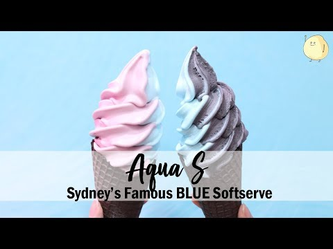 Aqua S - Sydney's Famous BLUE Softserve Arrives To Singapore