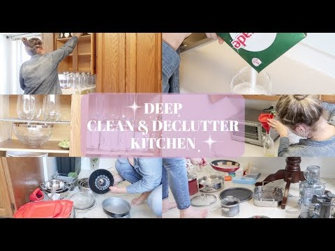 CLEAN WITH ME / DEEP CLEAN & DECLUTTER KITCHEN // SMALL KITCHEN: ORGANIZATION& DECLUTTERING WITH KAT