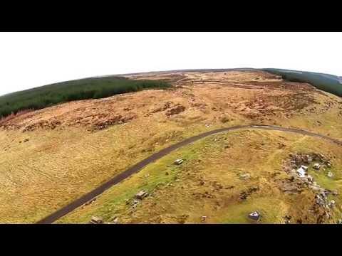Quadcopter Flight On Binevenagh Mountain Home Of Manannan Mac Lir.