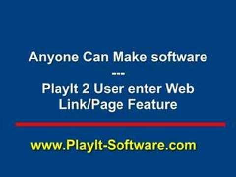 Anyone Can Make Software - PlayIt 2 Ask User Enter Web Link