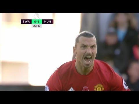 Суонси Сити – Манчестер Юнайтед голы 1-3 дубль Ибрагимовича