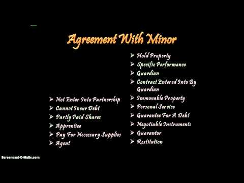 agreement with minor