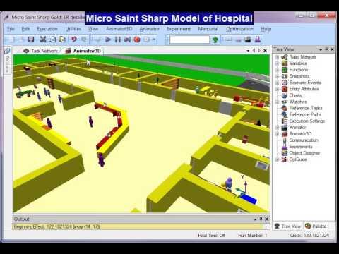 Micro Saint Sharp Emergency Room Model - YouTube