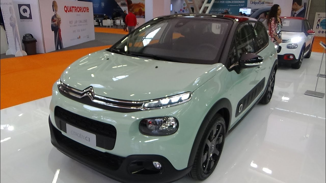 2018 citroen c3 bluehdi 75 shine exterior and interior bologna motor show 2017 youtube. Black Bedroom Furniture Sets. Home Design Ideas