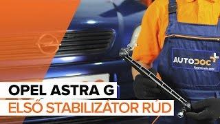 Hogyan cseréljünk Stabilizátor összekötő OPEL ASTRA G Hatchback (F48_, F08_) - online ingyenes videó