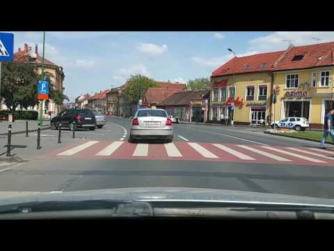 Driving through Brasov Romania May - 2017
