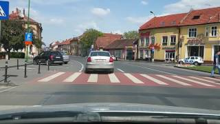 Driving through Brasov Romania