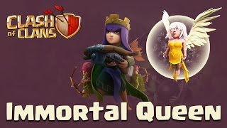 Clash Of Clans | Low level Queen Walk + Goholalo clear Anti-3 star Town Hall 9 Base
