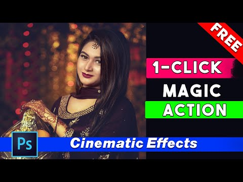 1 Click Automatic Cinematic Effects Free Photoshop Actions By Shazim Creations ⏬