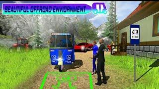 Police Tuk Tuk Auto Rickshaw Driving Game 2021 || Village Auto Rickshaw Game - Android Gameplay. screenshot 5