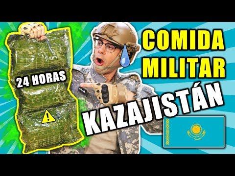 CASI VOMITO Probando COMIDA MILITAR DE KAZAJISTÁN 24 HORAS | Curiosidades Con Mike