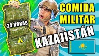 CASI VOMITO Probando COMIDA MILITAR DE KAZAJISTÁN 24 HORAS   Curiosidades con Mike