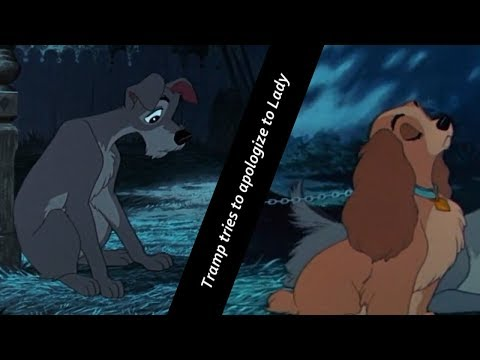 Lady and Tramp - Tramp tries to apologize to Lady HD