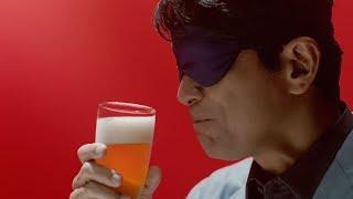 江口洋介、目隠ししながらビールの味に驚き キリンビール『本麒麟』新CM「予告」篇