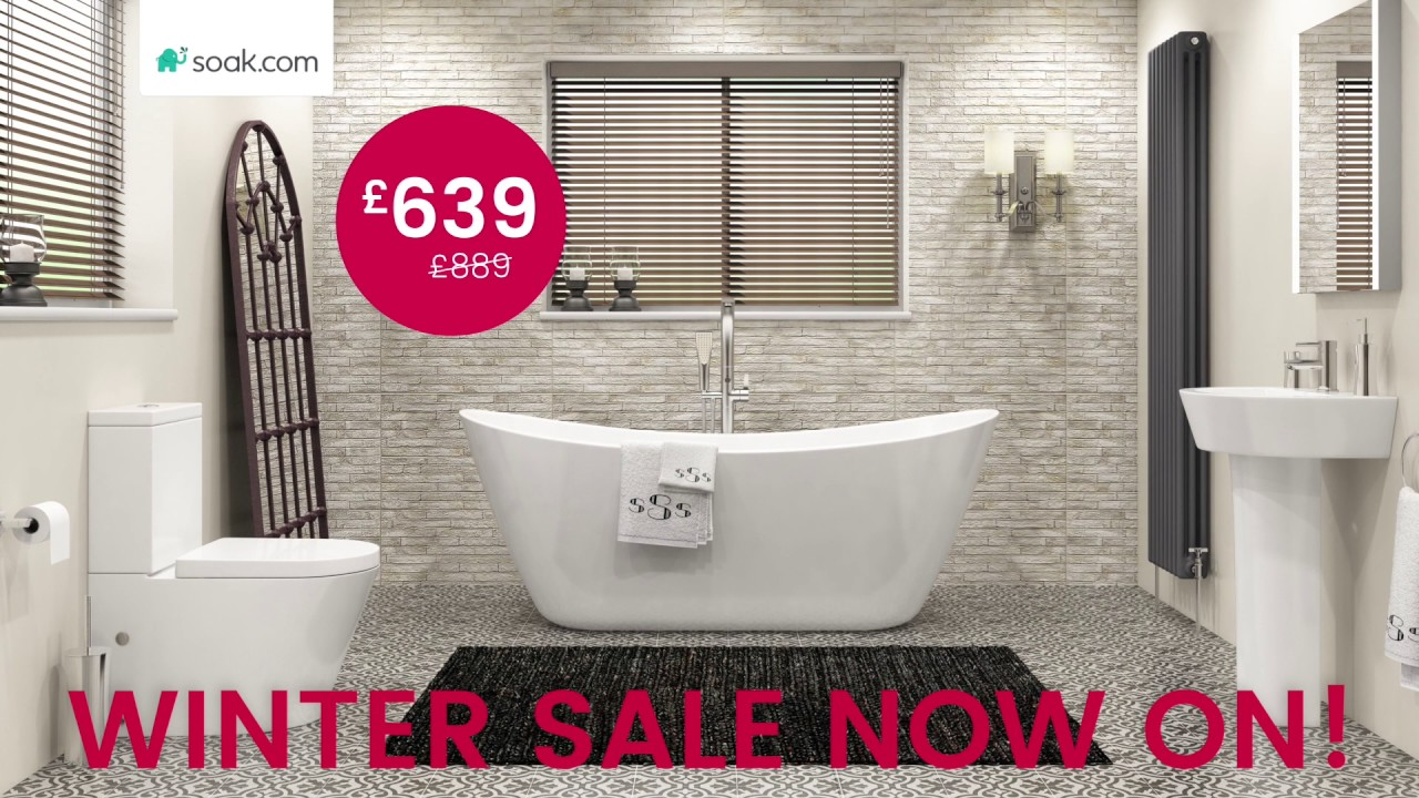 Winter Sale Deals – Caitlyn Freestanding Bath Suite - YouTube