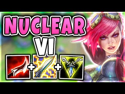 NUCLEAR ONE-SHOT VI MID! 100% INSTANT KILL ENEMIES WITH ONE PUNCH! (OVERPOWERED) - League of Legends