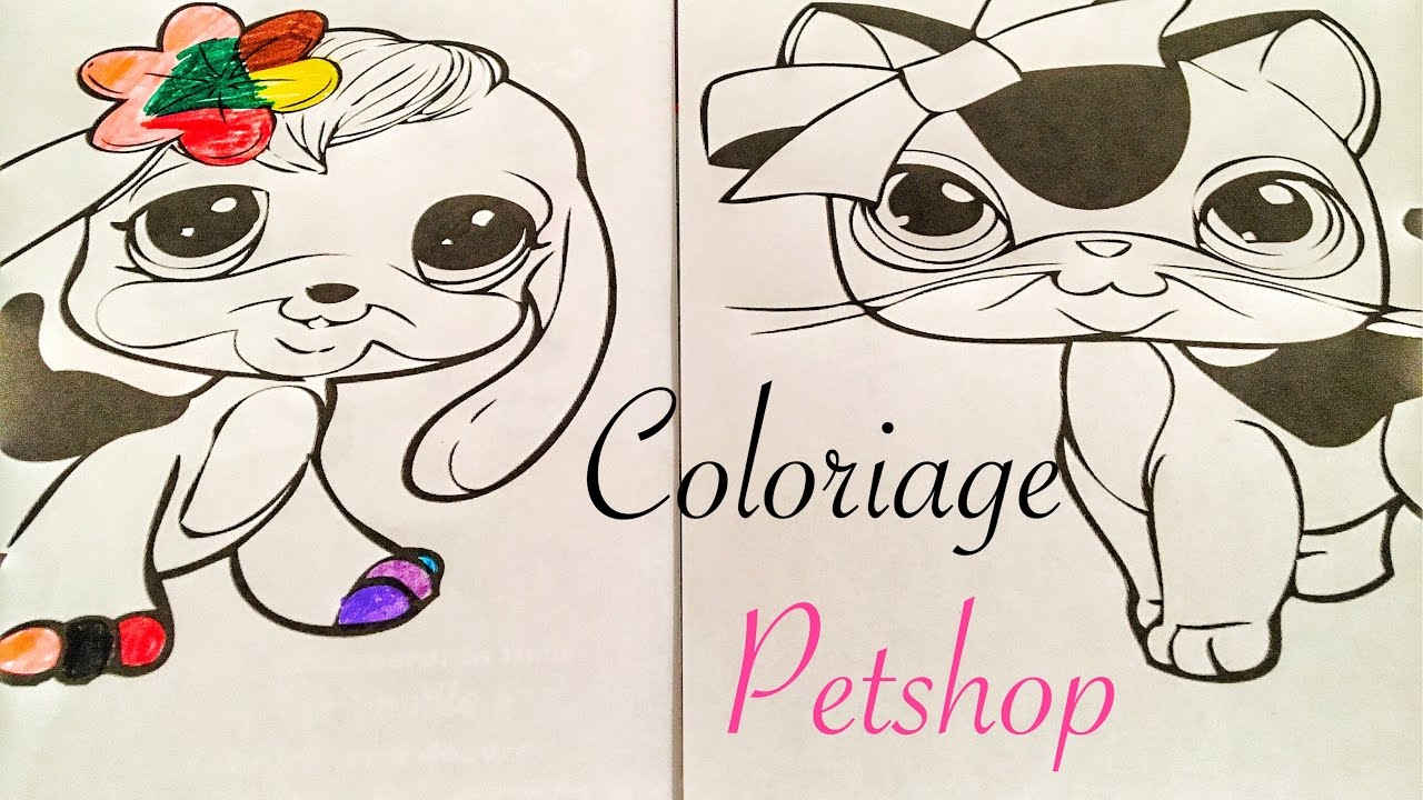 Je fais un coloriage petshop lps colors youtube - Coloriage lps ...