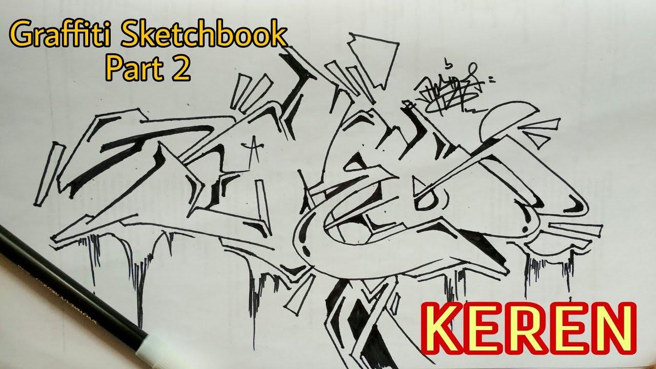 Graffiti Kertas Hitam Putih Keren Part 2 Youtube