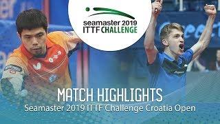 Chuang Chih-Yuan vs Anton Kallberg | 2019 ITTF Challenge Croatia Open (1/2)