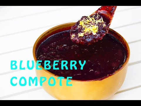 How to make healthy blueberry sauce/compote – 100% no added sugar recipe.
