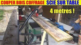 couper du bois de coffrage scie sur table parkside ptk 2000 lidl circulaire