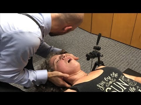 Neck EXPLOSION ~ First Time Chiropractic Adjustment Neck & Shoulder Pain, Hips & Back.