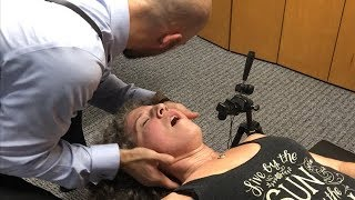 Neck EXPLOSION ~ First Time Chiropractic Adjustment Neck & Shoulder Pain, Hips & Back.