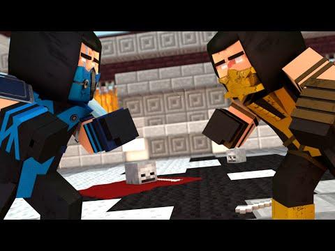 Minecraft: SCORPION VS SUB-ZERO ! - Build Battle Minigame