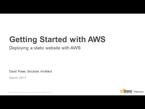 Hands-on Labs: Getting Started with AWS - March 2017 Online Tech Talks