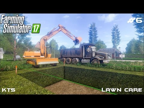 Digging foundation for house | Lawn Care | Farming Simulator 2017 | Episode 6 thumbnail