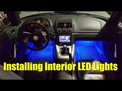 How to Install Interior LED Lights in Saturn Sky – Pontiac Solstice