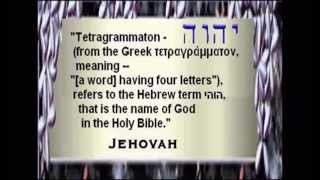 """Jehovah (YHWH/ """"Yahweh""""), The True Name of God - Secret Code Hidden in Book of Leviticus"""