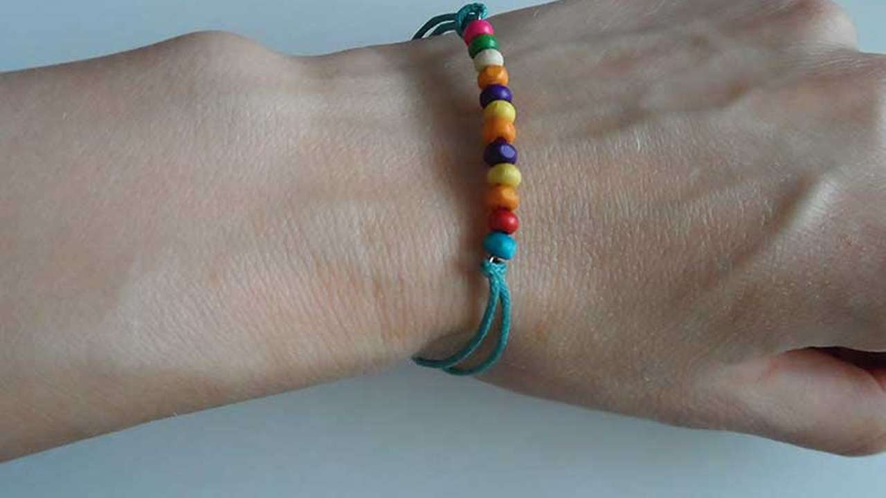 Bracelet With Wooden Beads Diy Crafts