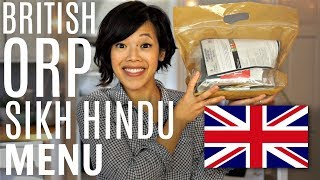 British Army Operation Ration Pack Sikh Hindu Menu | ORP MRE