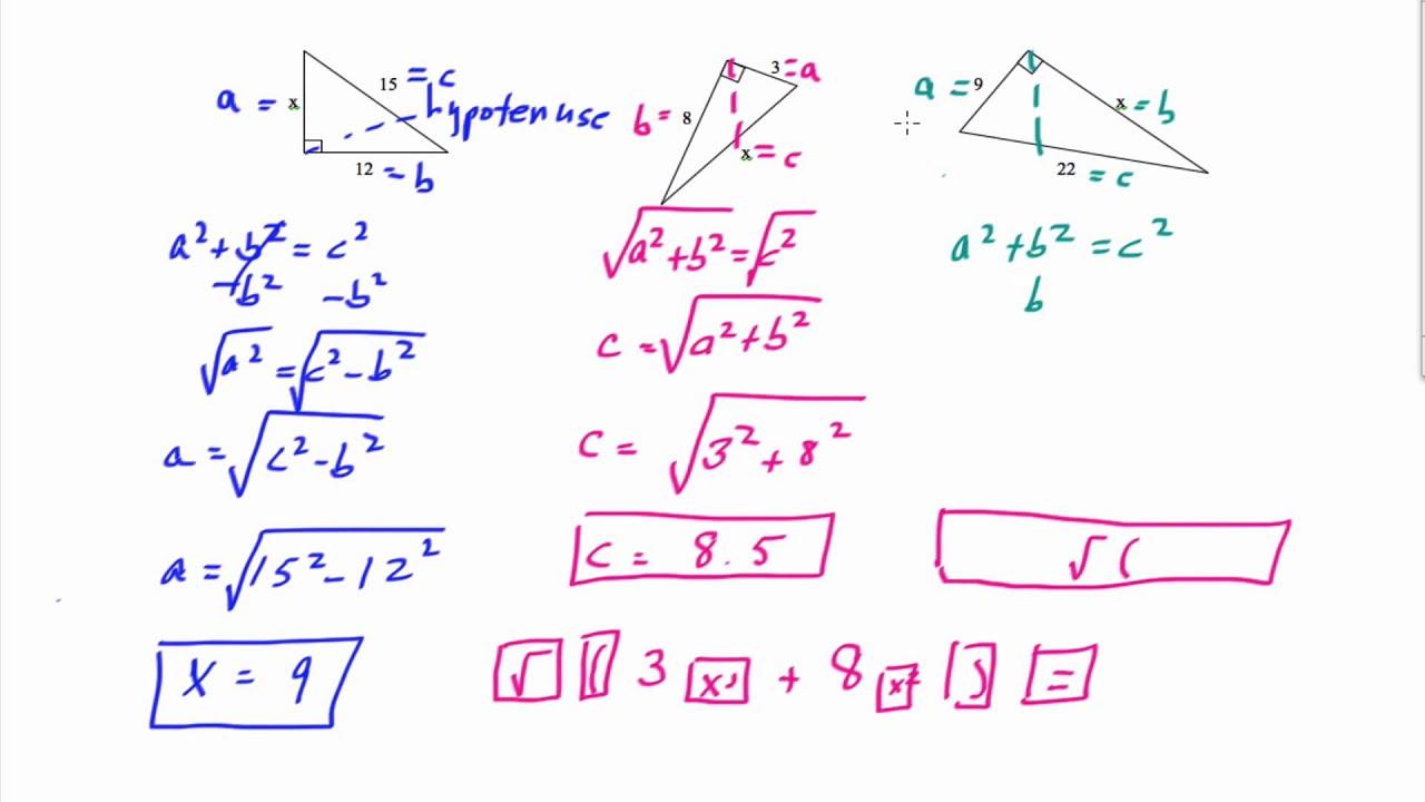 worksheet Pythagorean Theorem Problems pythagorean theorem problems youtube problems