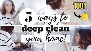 HOW TO DEEP CLEAN YOUR HOME! | DEEP CLEANING ROUTINE | 1001 AD