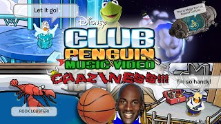 Club Penguin Music Video Craziness - Frozen, Space Jam, Muppets, & more!