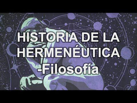 Historia de la Hermenéutica - Filosofía - Educatina