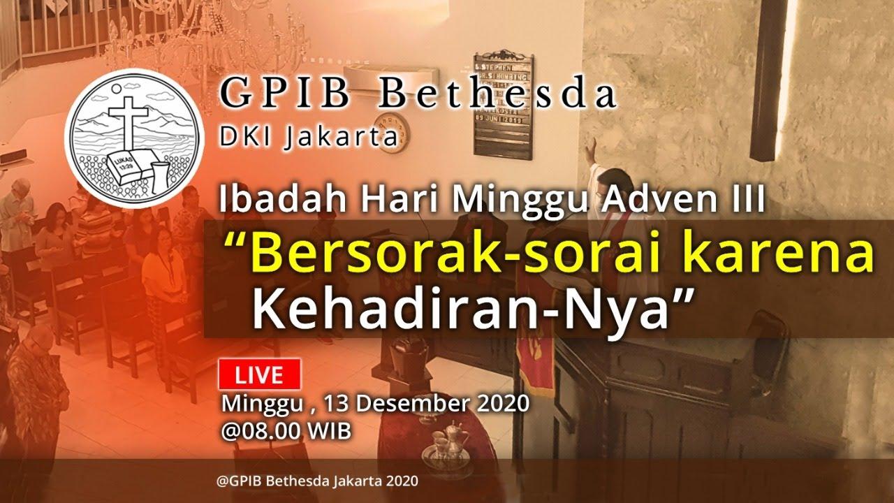 Ibadah Hari Minggu Adven III (13 Desember 2020)
