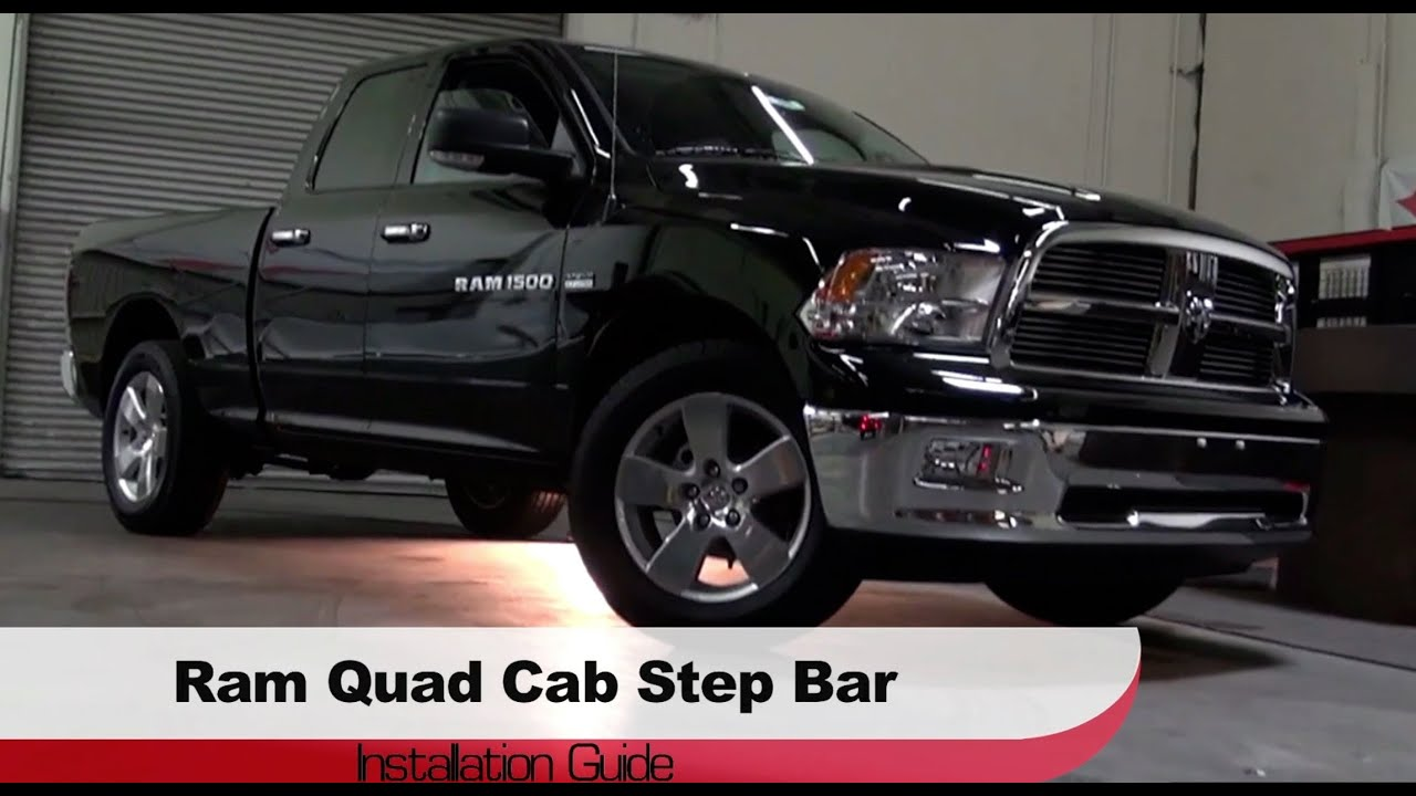 Spyder Auto Installation 2009 13 Dodge Ram Ram Trucks 1500 Quad Cab Step Bars