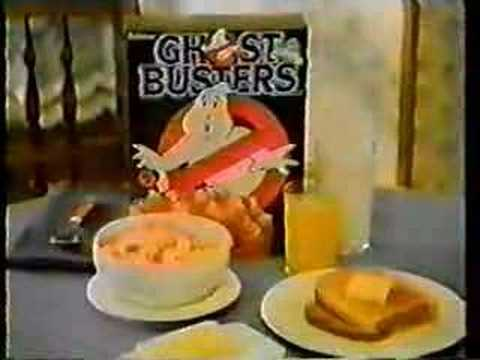 80's Ghostbusters Cereal Commercial