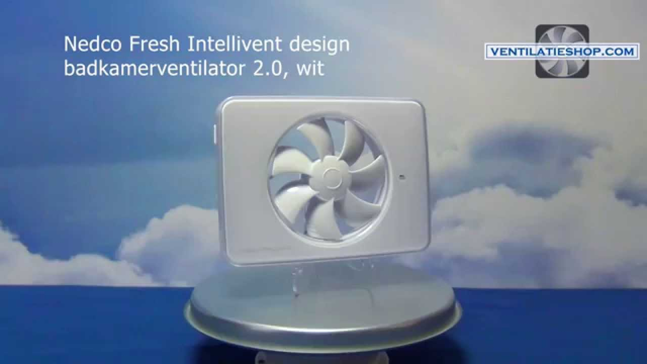 Badkamer Ventilator Zwart Nedco Fresh Intellivent Design Badkamerventilator 2 Wit Ventilatieshop