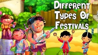 Different Types Of Festivals | Pre School Learning and Kids Education