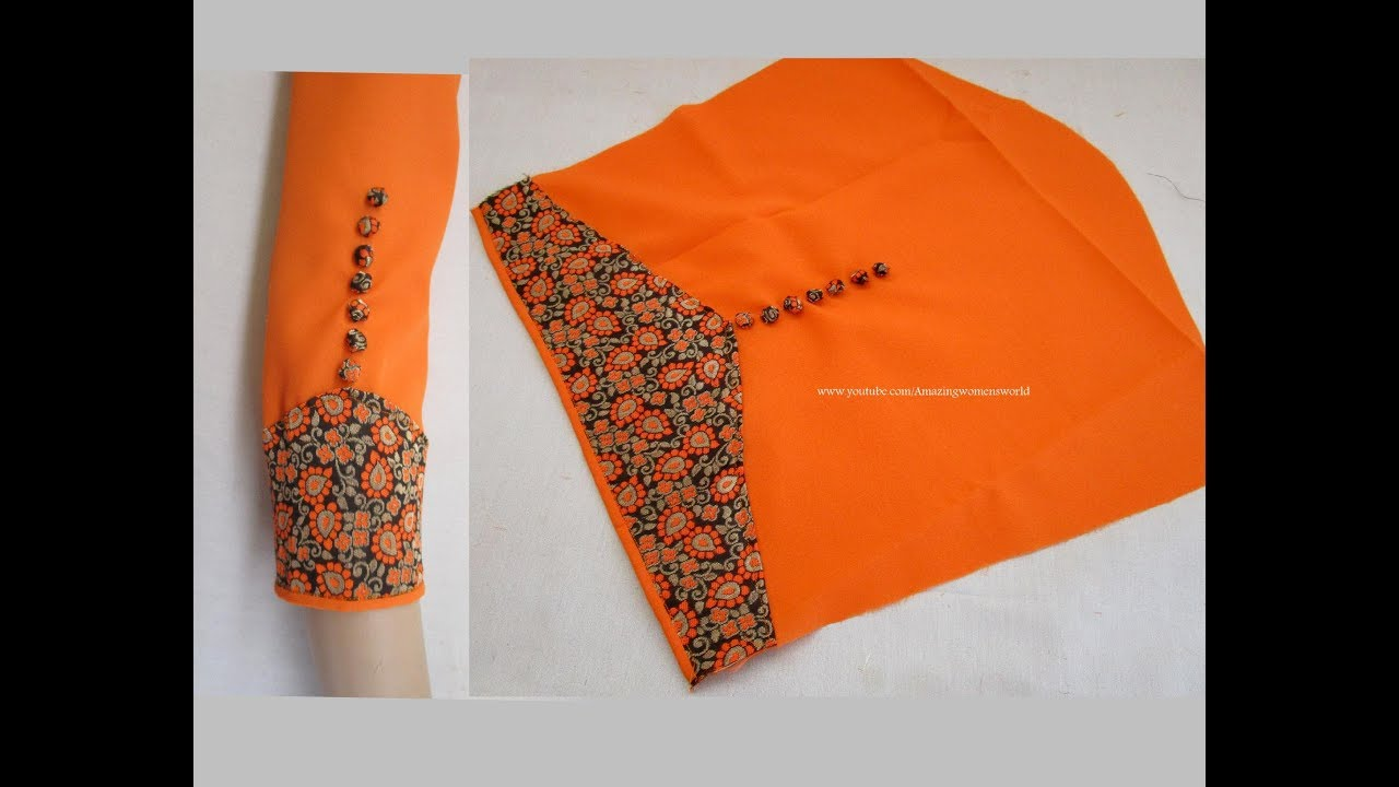Image result for Amazing Designer Sleeves for Churidar / Kurti Cutting & Stitching - Very Simple & Easy Making