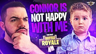 CONNOR IS NOT HAPPY WITH ME! - 10 Year Old Army Returns! (Fortnite: Battle Royale)