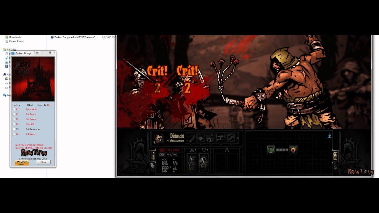 Darkest dungeon: трейнер/trainer (+6) [build 21142] {mrantifun.