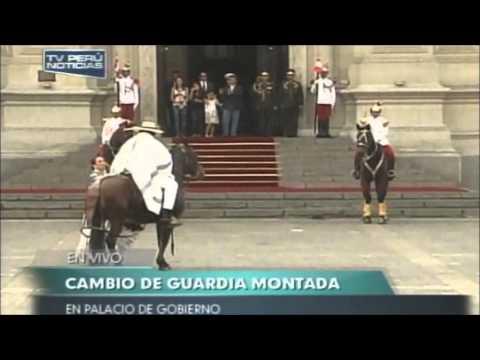 Marinera y Caballos de Paso en el Palacio de Gobierno del Perú