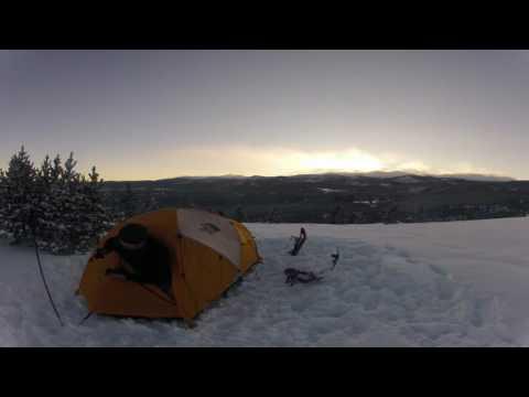 Winter Camping in 20 Below Zero - Bighorn Mountains, WY
