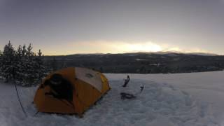 Winter Camping in 20 Below Zero - Bighorn Mountains, WY