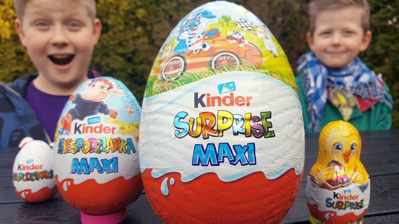 Nowe Ogromne Jajko Kinder Niespodzianka Maxi Youtube